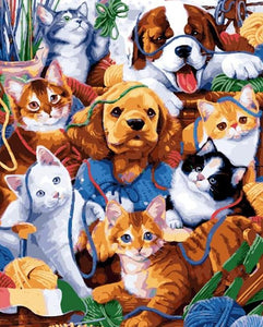 Cats & Dogs Paint by Numbers