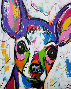 Colorful Chihuahua Paint by Numbers