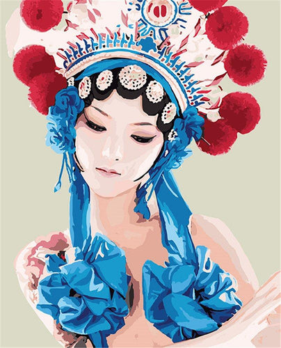 Chinese Lady Paint by Numbers
