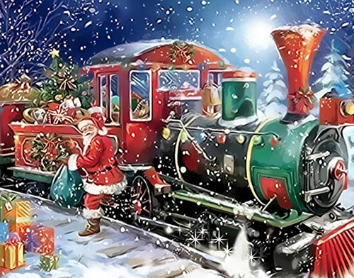 Christmas Train Paint by Numbers