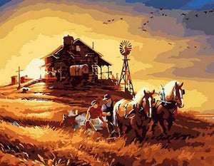 Classic Country Painting by Numbers