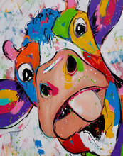 Load image into Gallery viewer, Colorful Cow Paint by Numbers