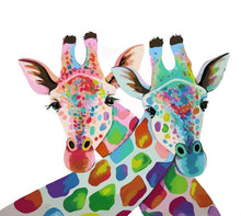 Load image into Gallery viewer, Colorful Giraffes Paint by Numbers