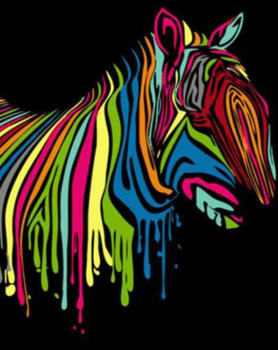 Abstract Zebra Paint by Numbers
