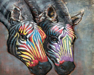 Zebras Heads Paint by Numbers