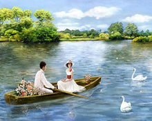Load image into Gallery viewer, Couple on Boat Paint by Numbers