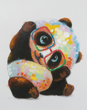 Load image into Gallery viewer, Colorful Panda Paint by Numbers