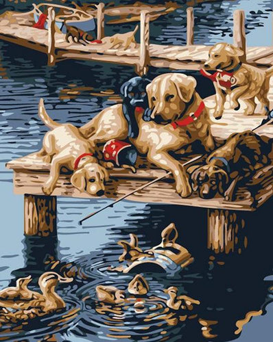 Dogs & Ducks Paint by Numbers