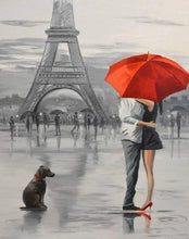 Load image into Gallery viewer, Eiffel Tower & Couple Paint by Numbers