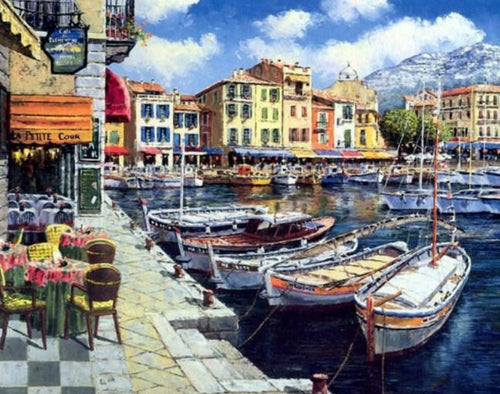 Italian Landscape Paint by Numbers