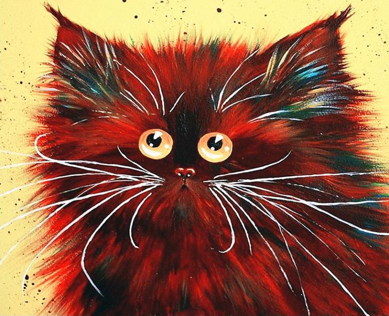 Fluffy Cat Paint by Numbers