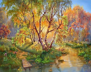 Forest Landscape Paint by Numbers