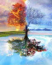 Load image into Gallery viewer, Four Seasons Tree Paint by Numbers