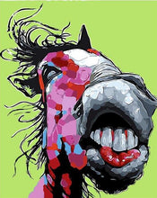 Load image into Gallery viewer, Funny Horse Paint by Numbers