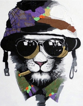 Gangster Lion Paint by Numbers