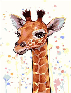 Giraffe Head Painting by Numbers