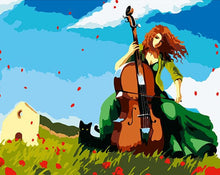 Load image into Gallery viewer, Girl Playing Violin Painting by Numbers