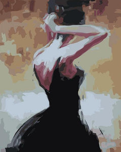 Girl in Black Paint by Numbers