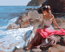 Load image into Gallery viewer, Girl & the Sea Paint by Numbers