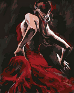 Gorgeous Dancing Lady Paint by Numbers
