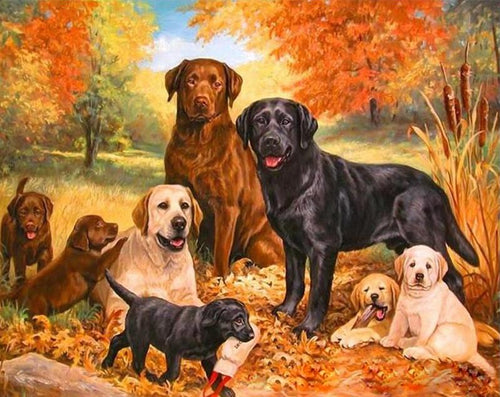 Dogs & Puppies Paint by Numbers