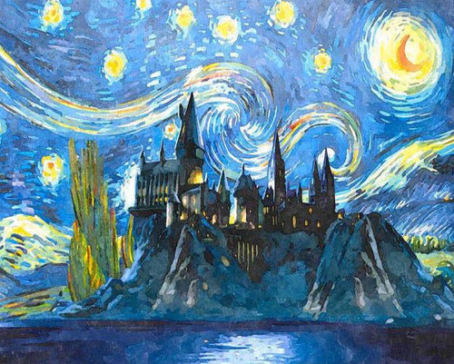 Harry Potter Starry Night Paint by Numbers