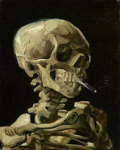 Head of Skeleton Smoking Paint by Numbers