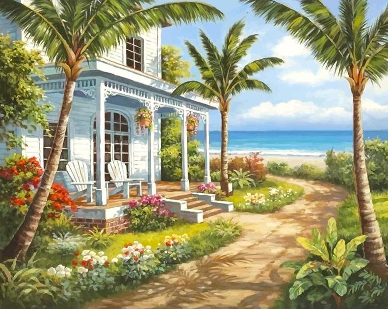 Home by the Sea Paint by Numbers