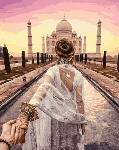 Taj Mahal Painting by Numbers