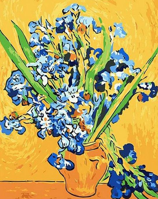 Van Gogh Irises Paint by Numbers