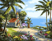 Load image into Gallery viewer, Island Chapel Paint by Numbers