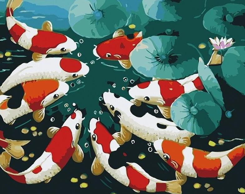Koi Fish Paint by Numbers Kit