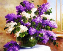 Load image into Gallery viewer, Lilac Bouquet Paint by Numbers