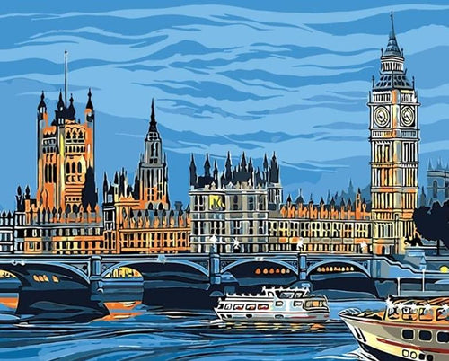 London Bridge Paint by Numbers