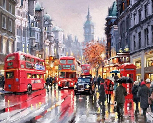 London Street Paint by Numbers