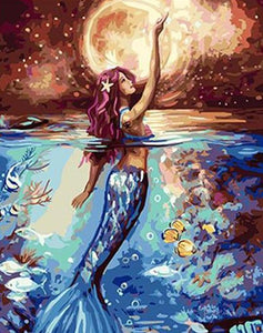 Moonlit Siren Paint by Numbers