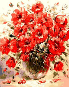Poppy Flowers Paint by Numbers