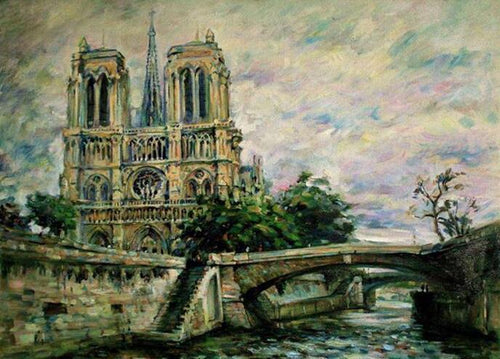 Paris Notre Dame Cathedral Paint by Numbers
