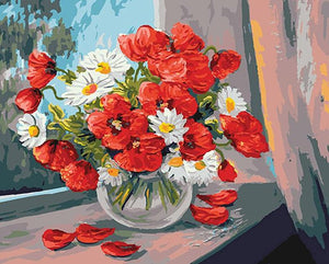 Daisies & Poppies Paint by Numbers