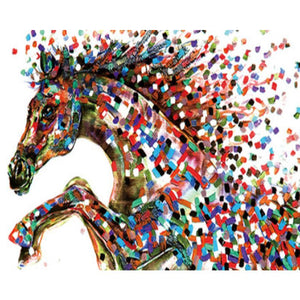 Psychedelic Horse Paint by Numbers