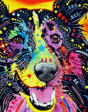Load image into Gallery viewer, Psychedelic Dog Face Painting by Numbers