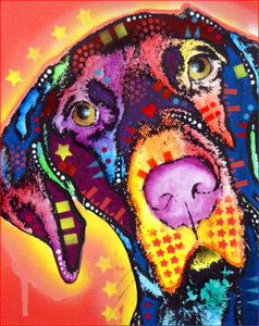 Psychedelic Dog Art Paint by Numbers