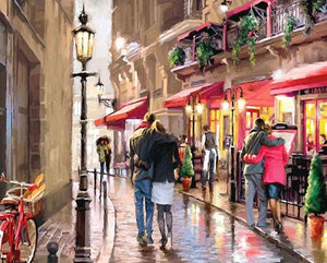 Couples on Streets Paint by Numbers