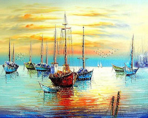 Sailing Boats Paint by Numbers
