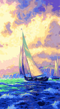 Load image into Gallery viewer, Sailing Yacht Paint by Numbers