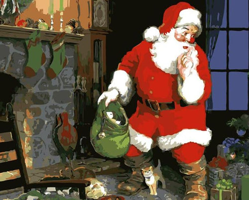 Santa Claus Paint by Numbers