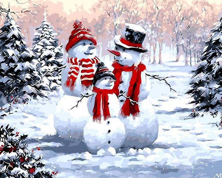 Snowman Family Painting Kit