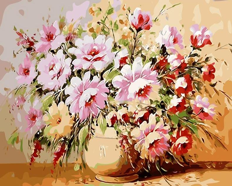 Flowers Painting by Numbers