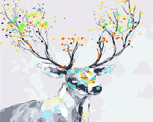Fantasy Stag Paint by Numbers