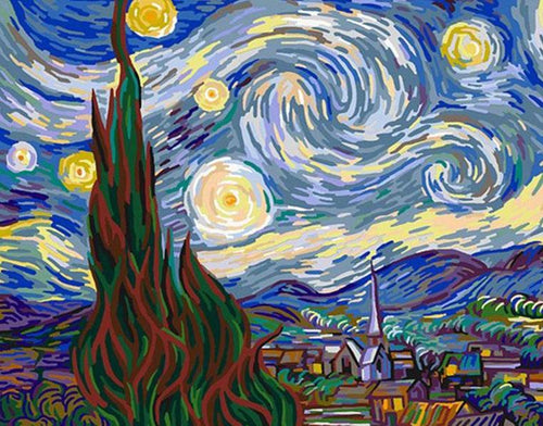 Starry Night Paint by Numbers